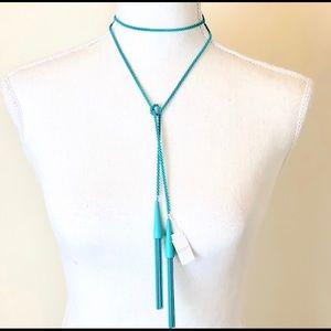 Kendra Scott Tassel Necklace in Matte Aqua